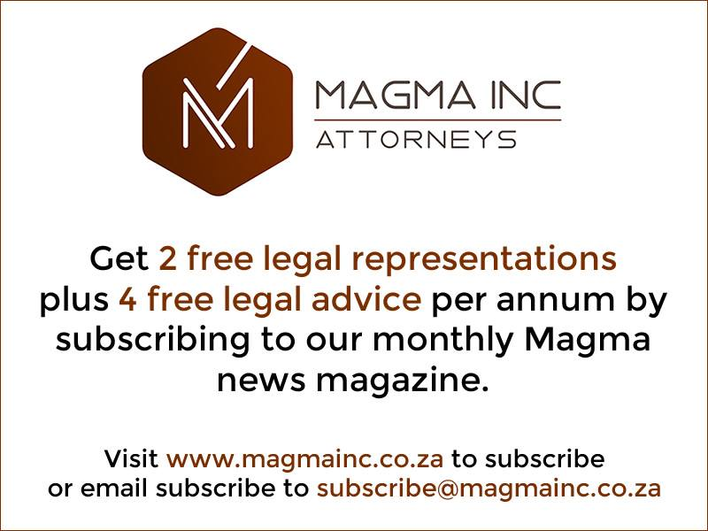 Subscribe to Magma Inc legal newsletter